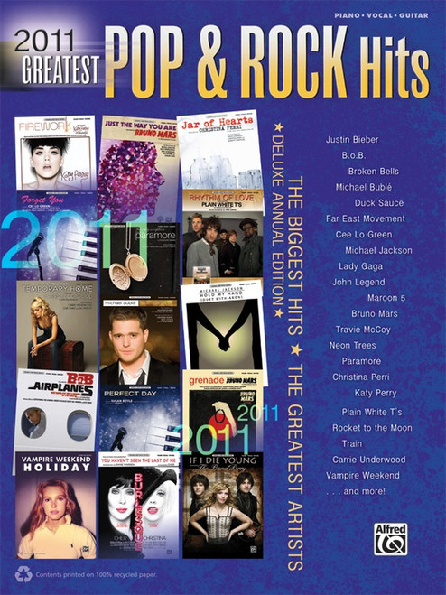 2011 Greatest Pop & Rock Hits - Piano · Vocal · Guitar