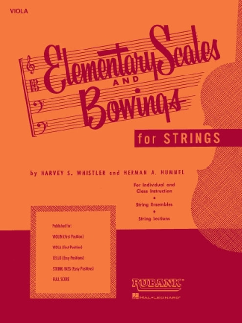 Elementary Scales and Bowings for Strings - String Bass