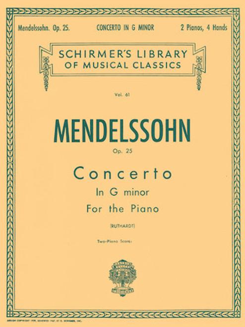 Mendelssohn - Concerto No. 1 in G Minor, Op. 25 - 2 Pianos, 4 Hands