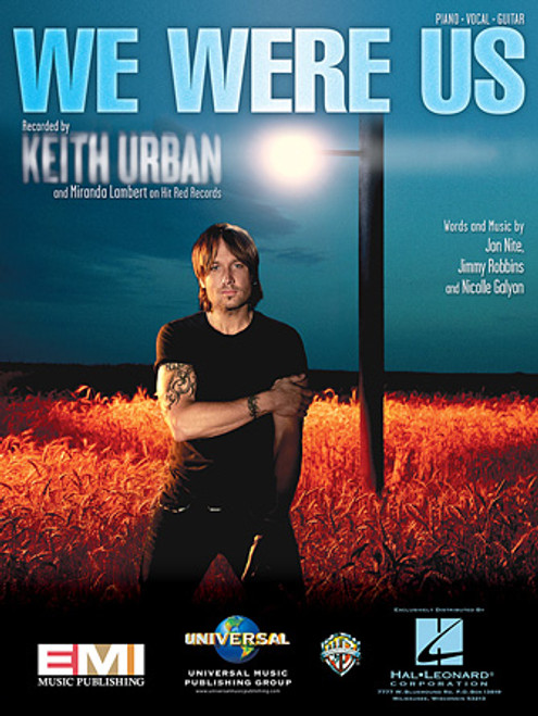Keith Urban - We Were Us for Piano/Vocal/Guitar