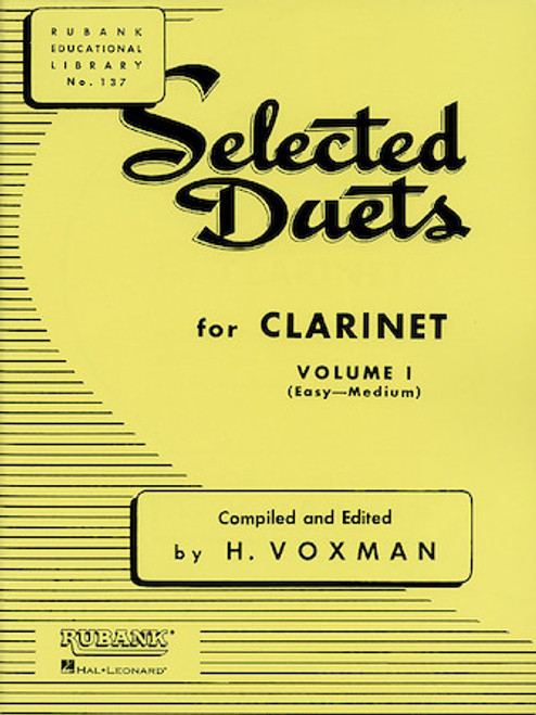 Selected Duets for Clarinet - Vol 1 - Easy to Medium
