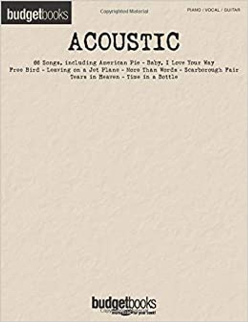 Budget Books - Acoustic - Piano/Vocal/Guitar