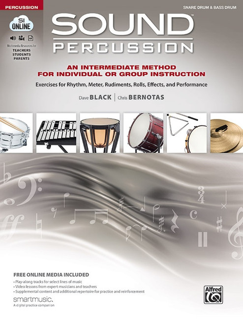 Sound Percussion - Intermediate Method for Individual or Group Instruction for Snare & Bass Drum (Audio Access Included)