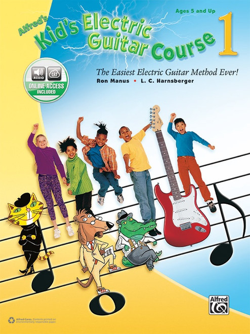 Alfred's Kid's Electric Guitar Course Book 1 (Online Access Included)