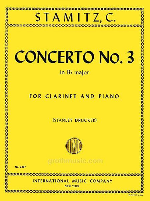 Stamitz - Concerto No. 3 in B-flat Major for Clarinet and Piano
