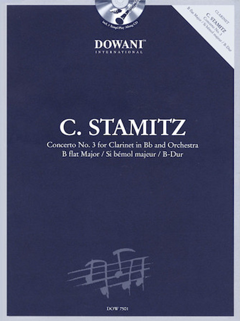 C. Stamitz - Concerto No. 3 for Clarinet in B-flat and Orchestra B-flat Major (Play-Along CD Included)