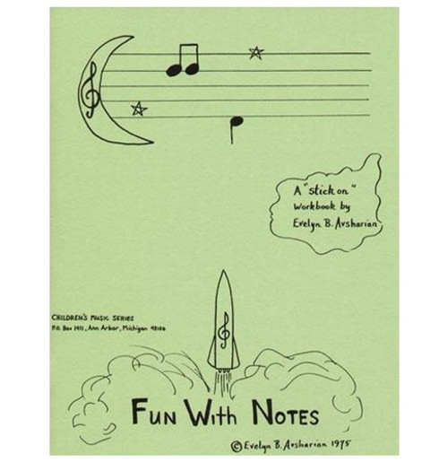 "Fun With Notes - A ""Stick On"" Workbook for Violin by Evelyn B. Avsharian"