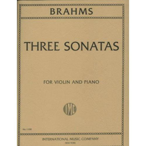 Brahms Three Sonatas for Violin and Piano