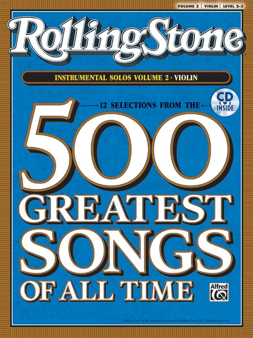 12 Selections from Rolling Stone Magazine's 500 Greatest Songs of All Time: Volume 2 Instrumental Solos Level 2-3 for Violin (Book/CD Set)