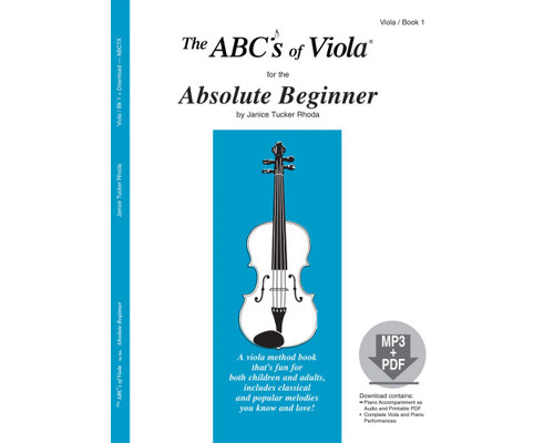 ABC's of Viola for the Absolute Beginner Book 1 (Audio Access Included)
