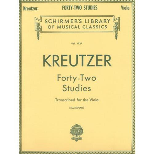 Kreutzer - Forty-Two Studies Transcribed for the Viola by Walter Blumenau