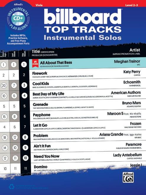Alfred's Instrumental Play-Along for Viola: Billboard Top Tracks Instrumental Solos Level 2-3 for Viola (Book/CD Set)