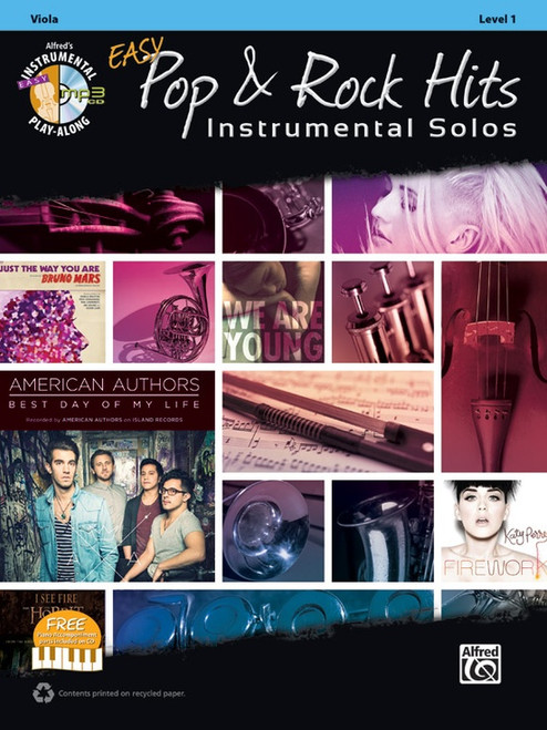 Alfred's Instrumental Play-Along Easy Pop & Rock Hits Instrumental Solos Level 1 for Viola (Book/CD Set)