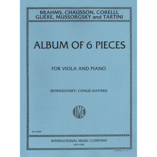 Album of 6 Pieces for Viola and Piano by Borissovsky, Conus, & Katims