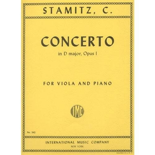 C. Stamitz - Concerto in D Major, Opus 1 for Viola and Piano