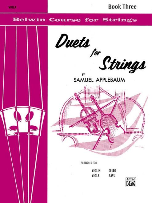 Duets for Strings Book 3 for Viola by Samuel Applebaum
