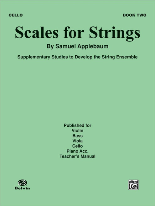 Scales for Strings Book 2 for Cello by Samuel Applebaum