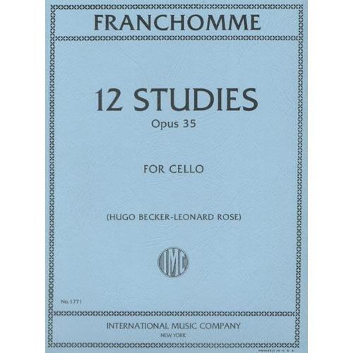 Franchomme - 12 Studies Opus 35 for Cello by Hugo Becker & Leonard Rose