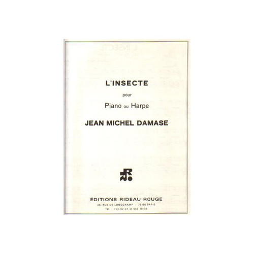 L'Insecte for Piano or Harp by Jean Michel Damase