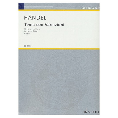 Händel - Tema con Variazioni (Theme and Variations) for Harp or Piano by Zingel