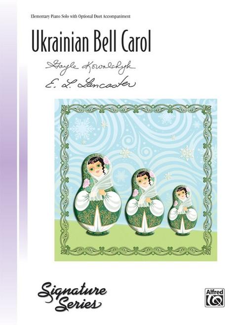 Ukrainian Bell Carol - Elementary Piano Solo with Optional Duet Accompaniment