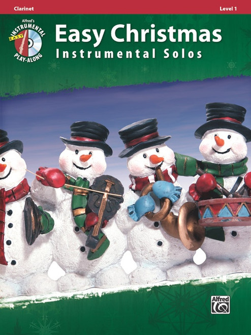 Alfred's Easy Instrumental Play-Along: Easy Christmas Instrumental Solos Level 1 for Clarinet (Book/CD Set)