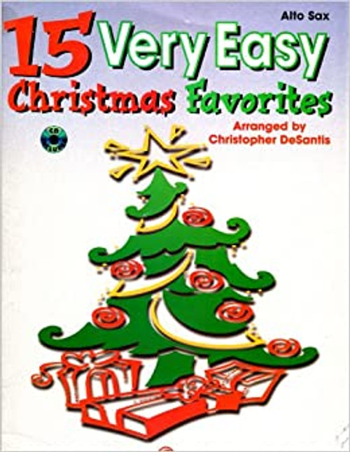 15 Very Easy Christmas Favorites for Alto Sax (Book/CD Set)