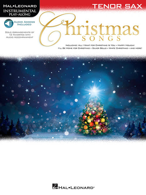 Hal Leonard Instrumental Play-Along for Tenor Sax - Christmas Songs (with Audio Access)