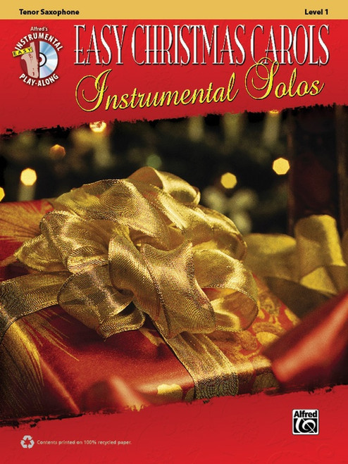 Alfred's Instrumental Play-Along: Easy Christmas Carols Instrumental Solos Level 1 for Tenor Sax (Book/CD Set)