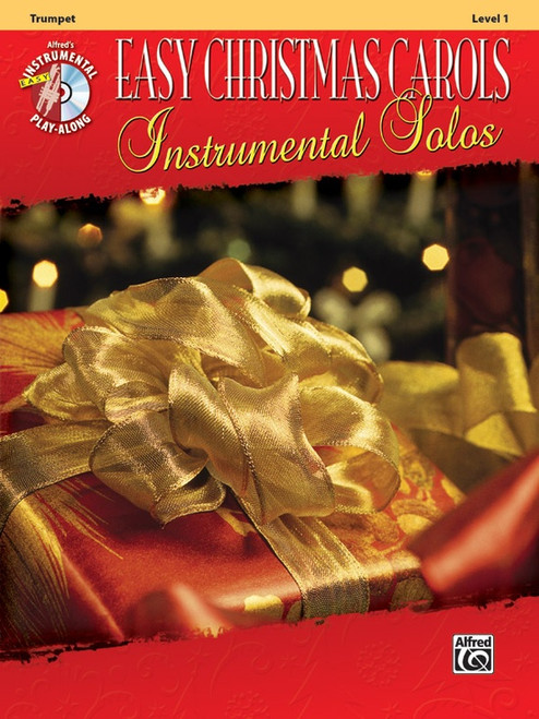 Alfred's Instrumental Play-Along: Easy Christmas Carols Instrumental Solos Level 1 for Trumpet (Book/CD Set)