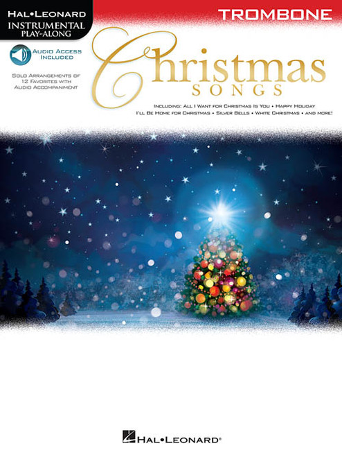 Hal Leonard Instrumental Play-Along for Trombone - Christmas Songs (with Audio Access)