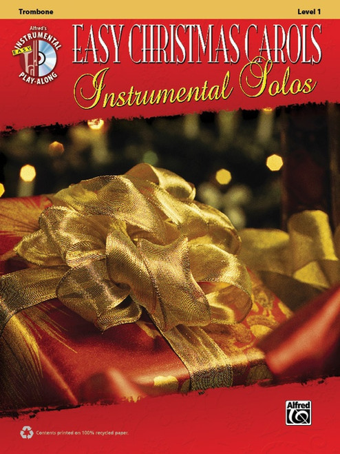 Alfred's Instrumental Play-Along: Easy Christmas Carols Instrumental Solos Level 1 for Trombone (Book/CD Set)