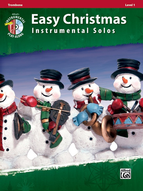 Alfred's Instrumental Play-Along: Easy Christmas Instrumental Solos Level 1 for Trombone (Book/CD Set)