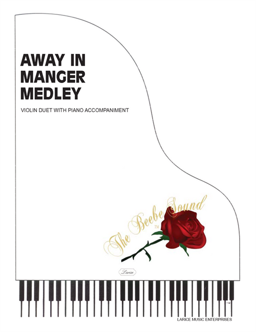Away in a Manger Medley Single Sheet for Violin Duet with Piano Accompaniment