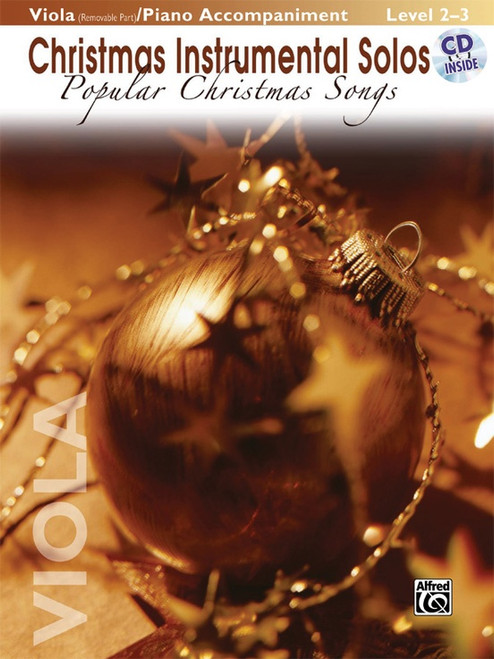 Christmas Instrumental Solos: Popular Christmas Songs Level 2-3 for Viola (Book/CD Set)