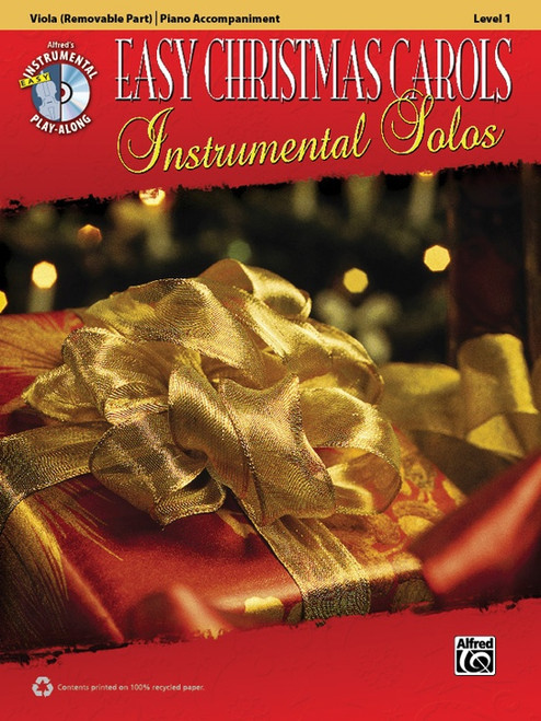 Alfred's Instrumental Play-Along: Easy Christmas Carols Instrumental Solos Level 1 for Viola with Piano Accompaniment (Book/CD Set)
