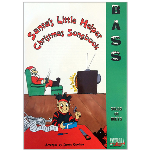 Santa's Little Helper Christmas Songbook for Bass Solos or Duets (Book/CD Set)