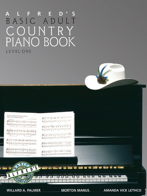 Alfred's Basic Adult Piano Course - Country Piano Book - Level 1