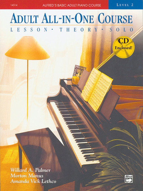 Alfred's Basic Adult Piano Course - All-in-One Course - Level 2 (Book/CD Set)