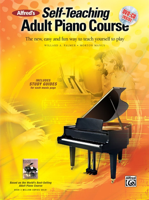 Alfred's Self-Teaching Adult Piano Course (Book/DVD Set)
