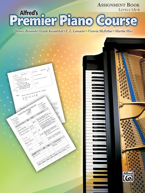 Alfred's Premier Piano Course Assignment Book - Levels 1A-6
