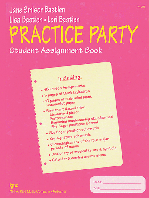 Bastien - Pracitce Party Student Assignment Book
