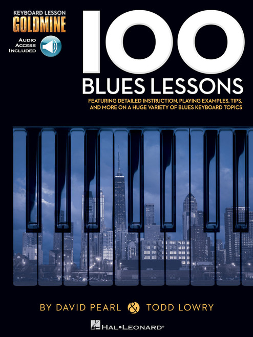 100 Blues Lessons (Book/CD Set) for Intermediate to Advanced Piano/Keyboard