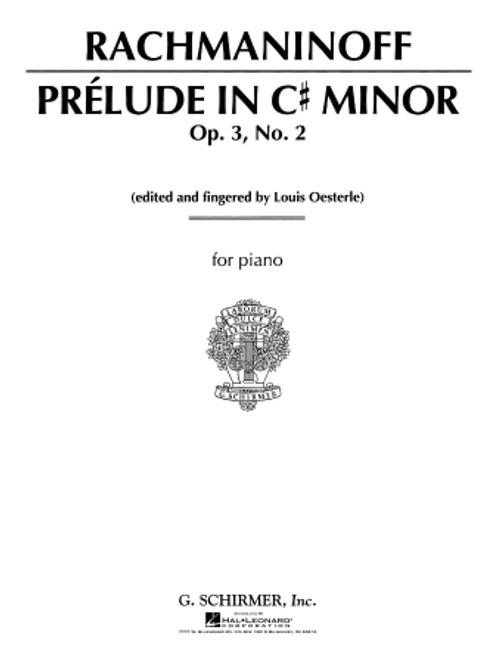 Rachmaninoff - Prélude in C# Minor, Op. 3, No.2 Single Sheet (Schirmer) for Intermediate to Advanced Piano