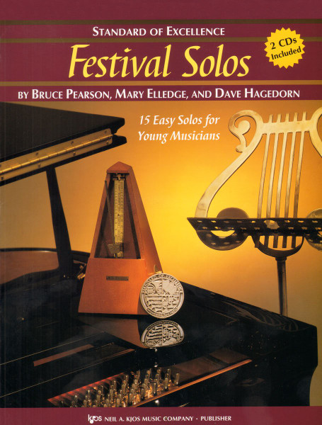 Standard of Excellence: Festival Solos for Bassoon by Bruce Pearson, Mary Elledge, & Dave Hagedorn (Book/CD Set)