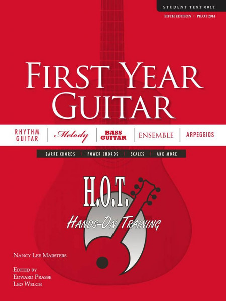 Class Guitar Resources Methods - First Year Guitar Student Text (Fifth Edition) by Nancy Lee Marsters, Edward Prasse & Leo Welch