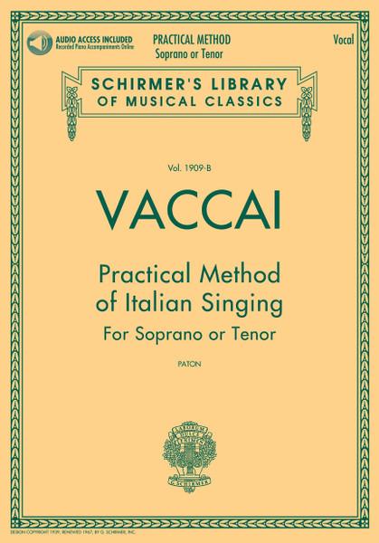 Vaccai - Practical Method of Italian Singing for Soprano or Tenor (Paton) w/Audio