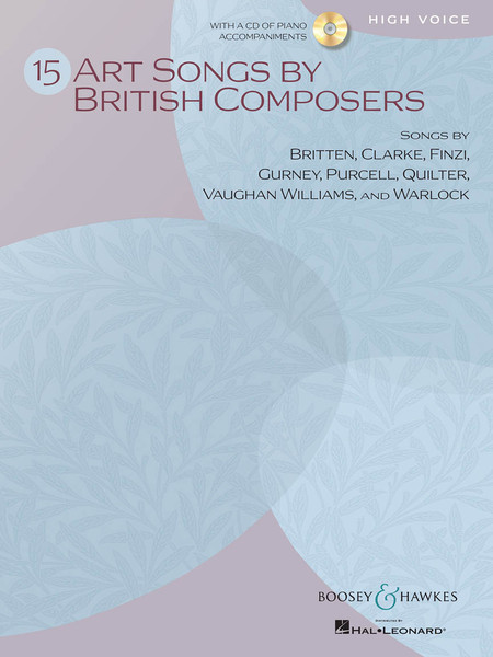 15 Art Songs by British Composers for High Voice ( with CD )