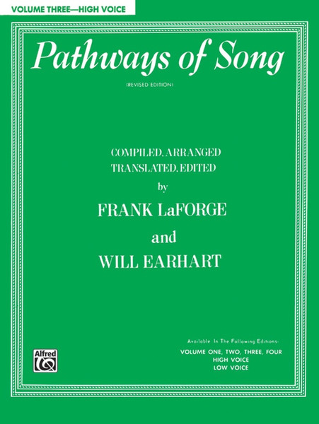 Pathways of Song (Revised Edition) Volume 3 - High Voice (Book Only)