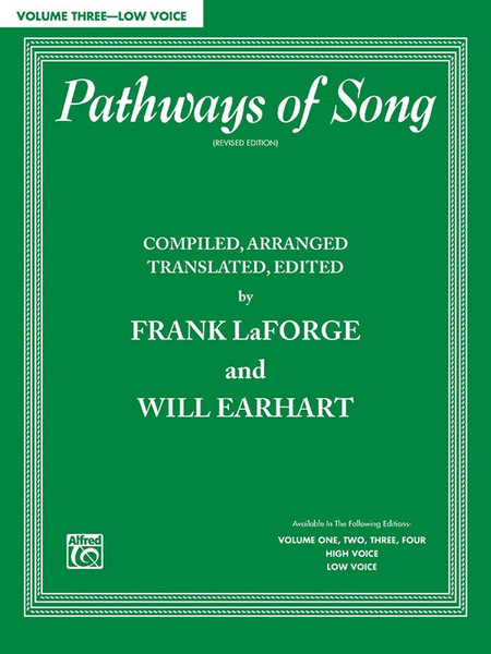 Pathways of Song (Revised Edition) Volume 3 - Low Voice (Book Only)